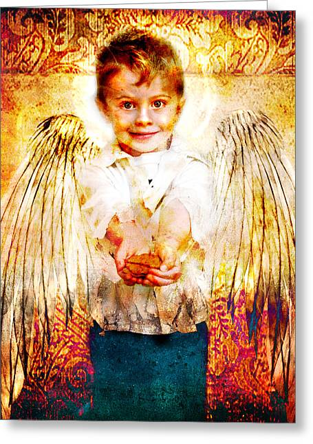 Charity Of Angels Greeting Card