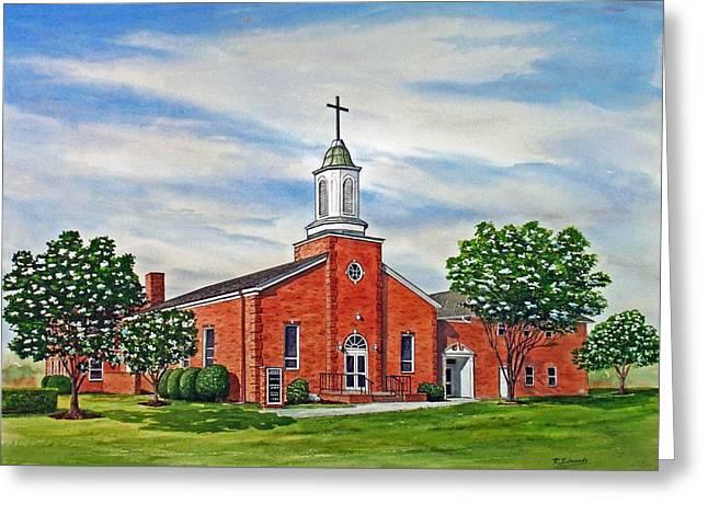 Charity United Methodist Church Greeting Card by Raymond Edmonds