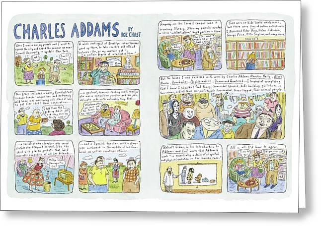 Charles Addams Greeting Card by Roz Chast