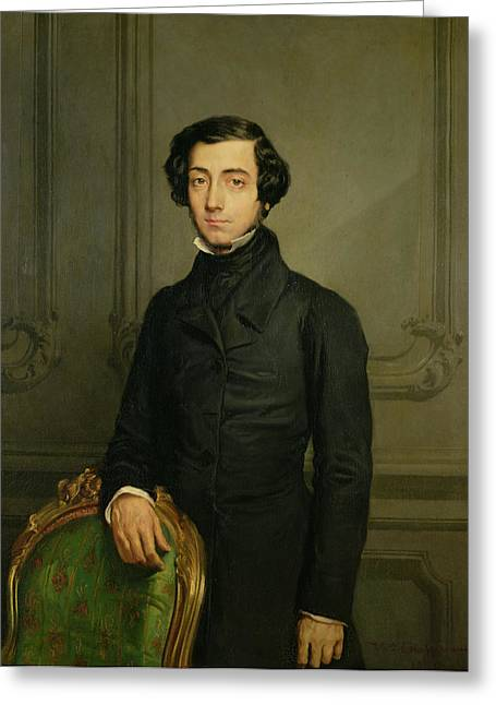 Charles-alexis-henri Clerel De Tocqueville 1805-59 1850 Oil On Canvas Greeting Card by Theodore Chasseriau