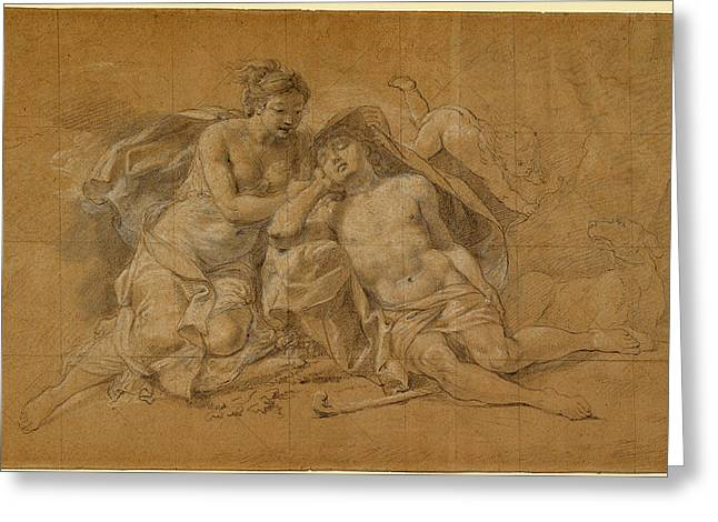 Charles-antoine Coypel, Diana And Endymion Greeting Card