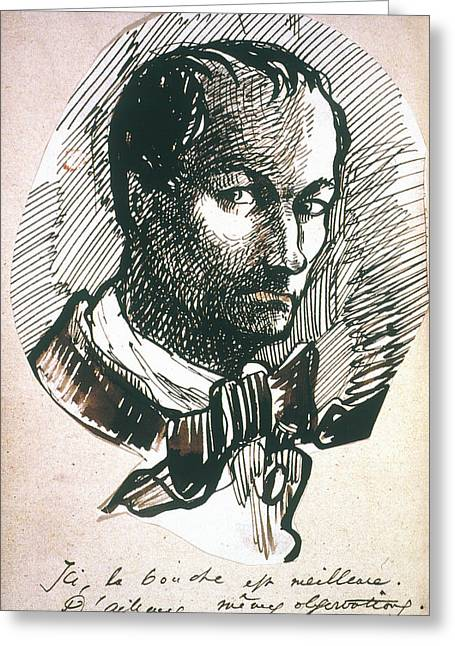 Charles Baudelaire (1821-1867) Greeting Card by Granger