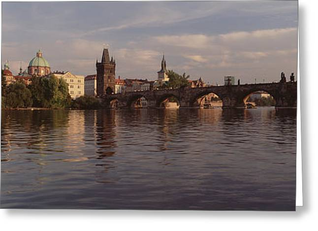 Charles Bridge Vltava River Prague Greeting Card