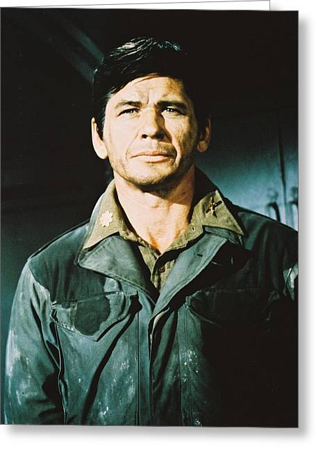 Charles Bronson In The Dirty Dozen Greeting Card by Silver Screen