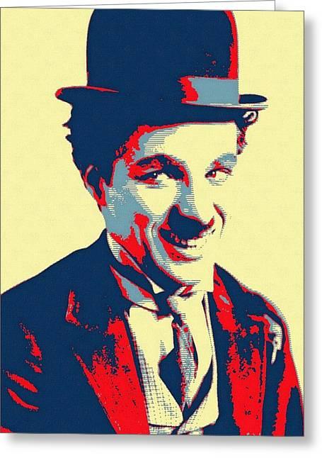 Charles Chaplin Charlot Greeting Card