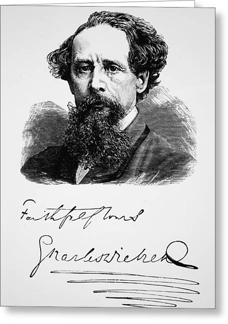 Charles Dickens Greeting Card by English School