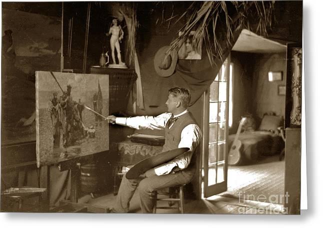 Charles Dickman Artist Monterey California Circa 1907 Greeting Card by California Views Mr Pat Hathaway Archives