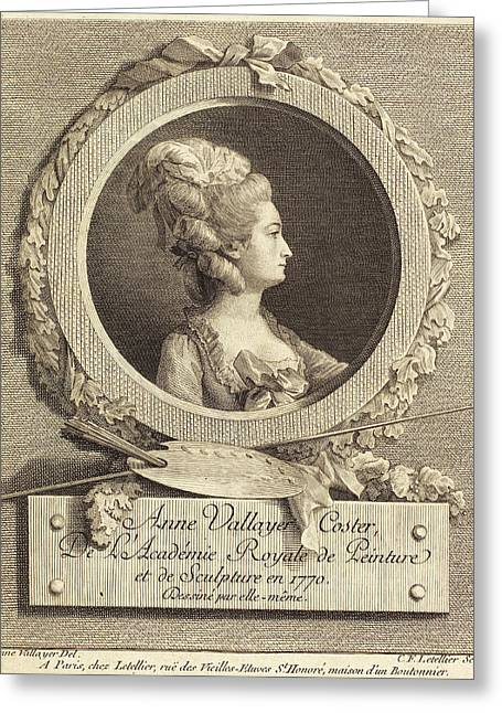 Charles Francois Le Tellier After Anne Vallayer-coster Greeting Card by Quint Lox
