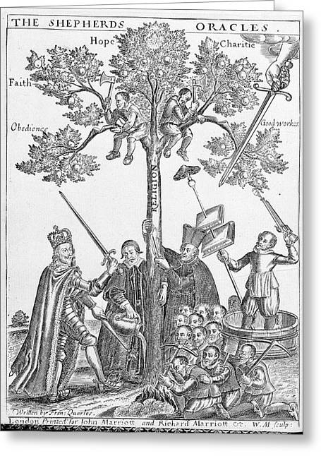 Charles I Greeting Card by British Library