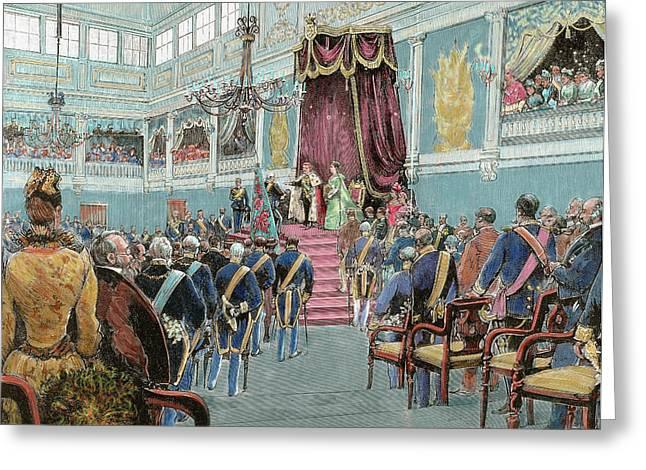Charles I (lisbon, 1863-vila Vials, 1908 Greeting Card by Prisma Archivo