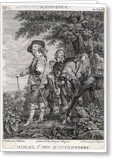 Charles I Of England          Date 1600 Greeting Card by Mary Evans Picture Library
