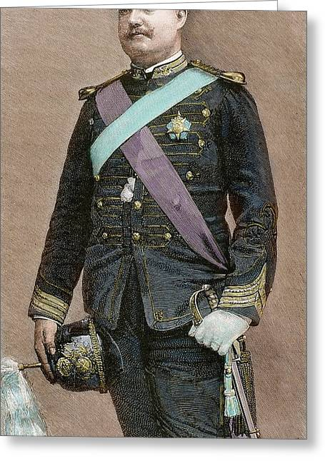 Charles I Of Portugal (1863-1908 Greeting Card by Prisma Archivo