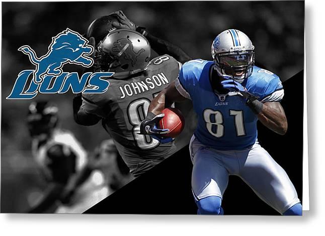 Calvin Johnson Lions Greeting Card