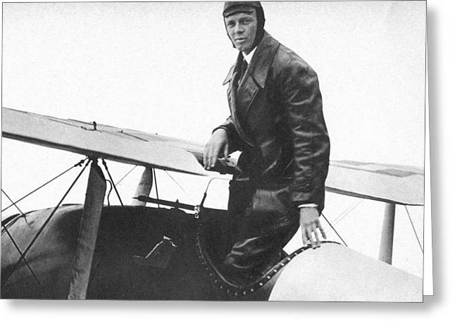 Charles Lindbergh Greeting Card by Unknown