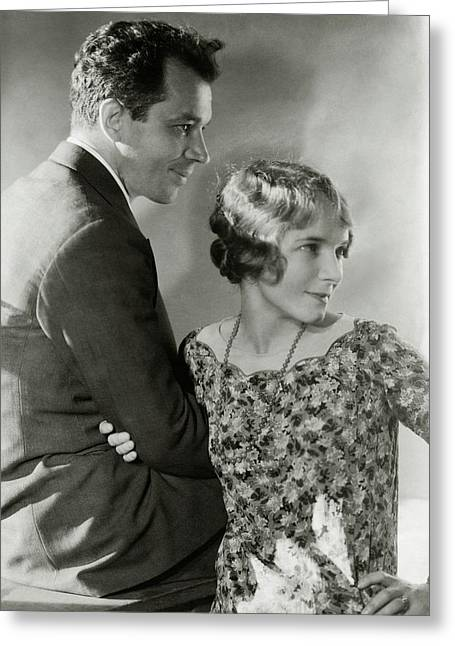 Charles Macarthur And Helen Hayes Greeting Card by Edward Steichen
