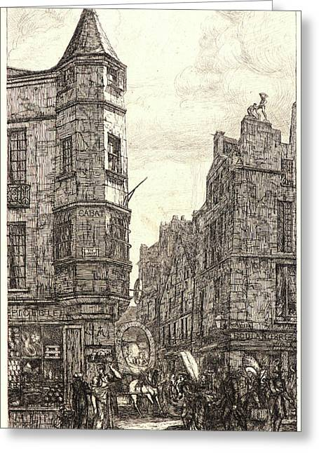 Charles Meryon French, 1821 - 1868. Tourelle De LÉcole De Greeting Card