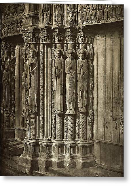 Charles Nègre, Chartres Cathedral Greeting Card by Quint Lox