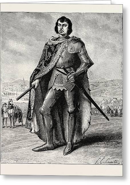 Charles The Rash Duke Of Burgundy Greeting Card by English School