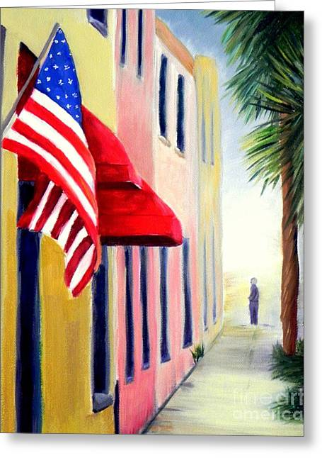 Charleston Alley Greeting Card by Shelia Kempf