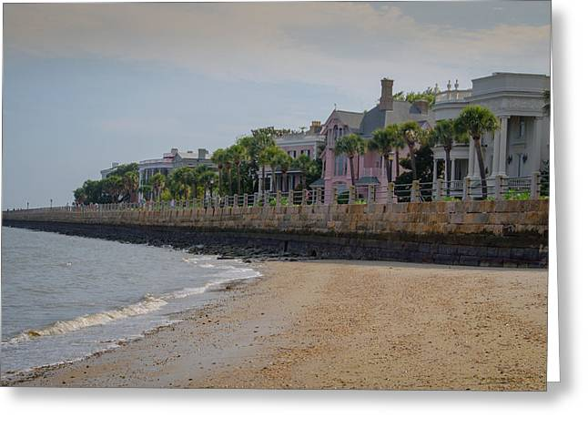 Greeting Card featuring the photograph Charleston Battery by Serge Skiba