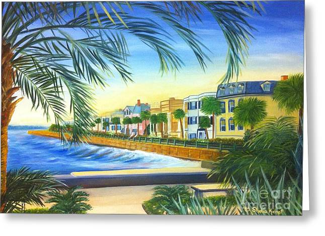 Charleston Battery Greeting Card by Shelia Kempf