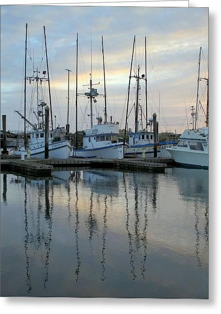 Charleston Boats Greeting Card