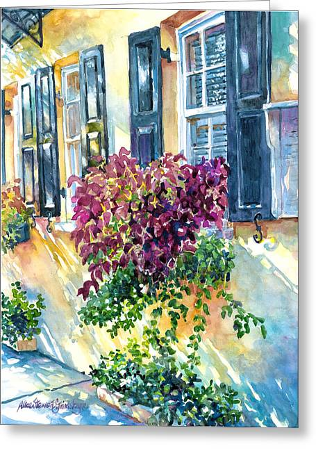 Charleston Bouquet Greeting Card by Alice Grimsley