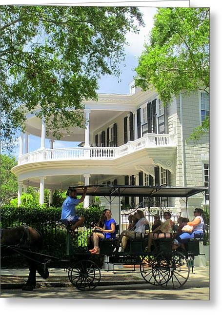 Charleston By Carriage Greeting Card