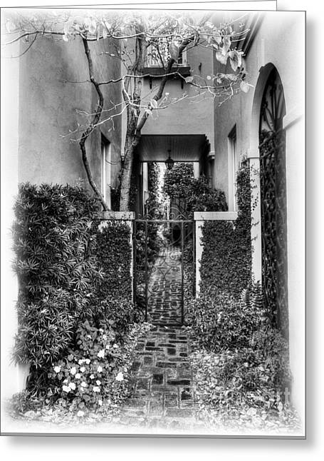 Charleston Charm 2 Bw Greeting Card