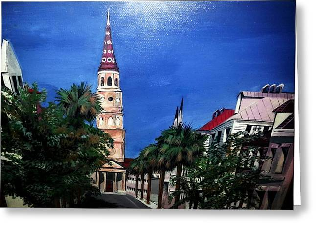 Charleston Church Street  Greeting Card by Joetta Beauford