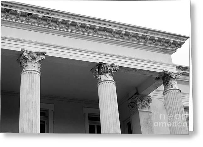 Charleston Columns Greeting Card by Manda Renee