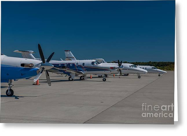 Charleston Executive Airport Greeting Card by Dale Powell