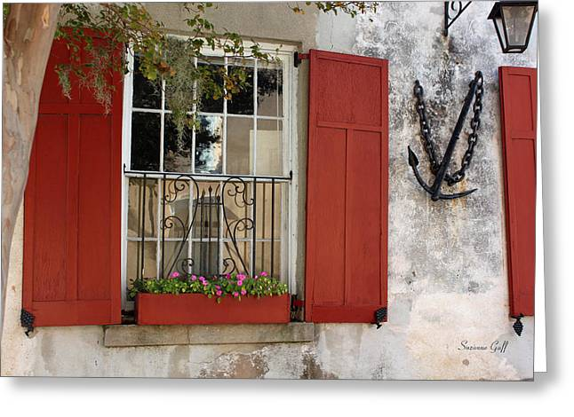 Charleston French Quarter II Greeting Card by Suzanne Gaff