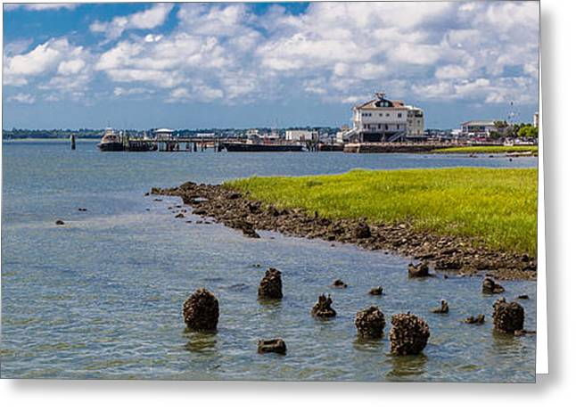 Greeting Card featuring the photograph Charleston Harbor by Sennie Pierson