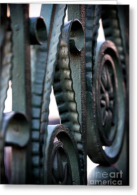 Charleston Iron Greeting Card by John Rizzuto