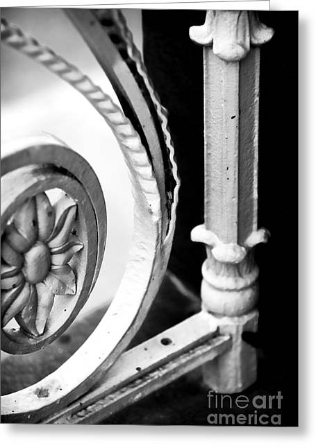 Charleston Iron Works Greeting Card by John Rizzuto