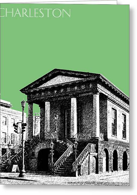 Charleston Market Building - Apple Greeting Card by DB Artist