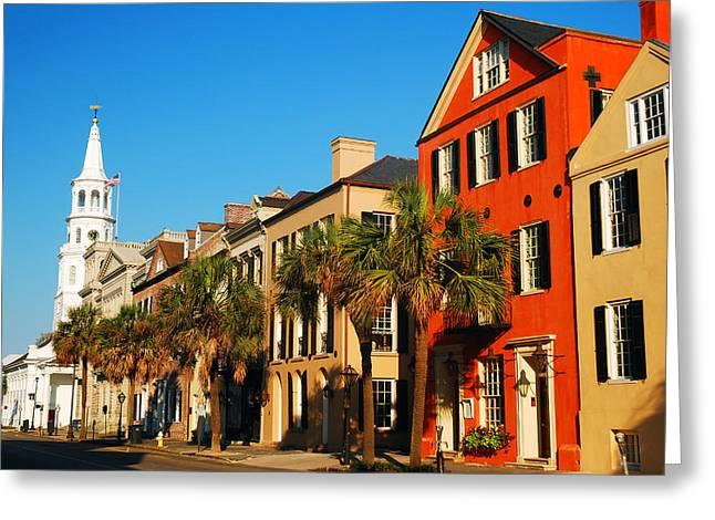 Charleston Painted Row Greeting Card