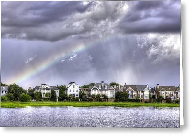 Charleston Rainbow Homes Greeting Card by Dustin K Ryan