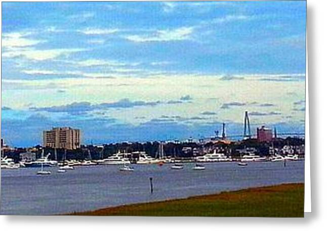 Greeting Card featuring the photograph Charleston Sc City View by Joetta Beauford