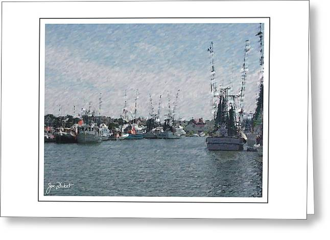 Charleston Shrimp Boats Greeting Card