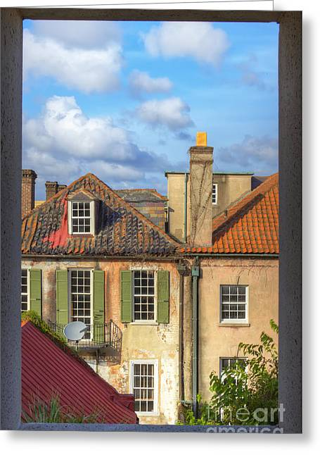 Charleston Singles Out My Window Greeting Card by Dustin K Ryan