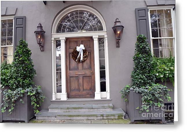 Charleston South Carolina Romantic Victorian Homes Greeting Card by Kathy Fornal