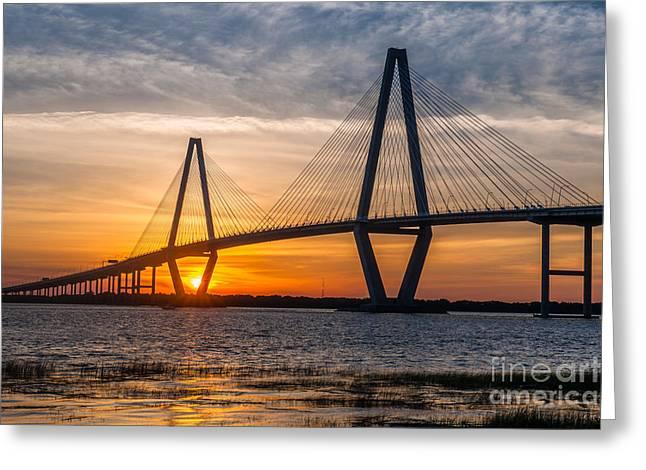 Charleston Sun Setting  Greeting Card