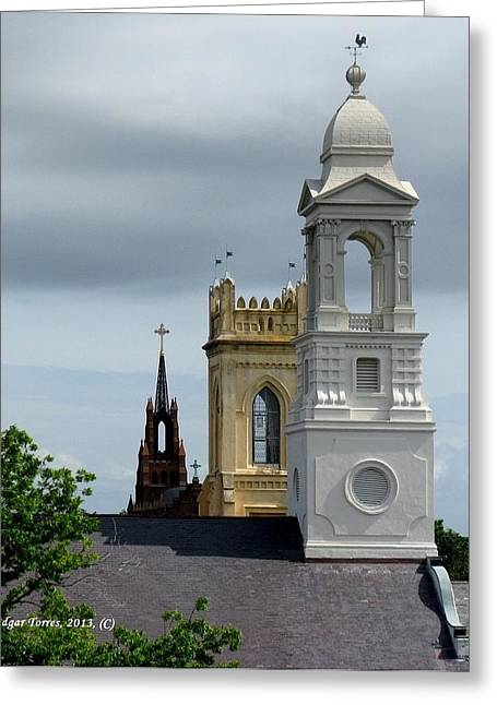 Charleston View Greeting Card by Edgar Torres