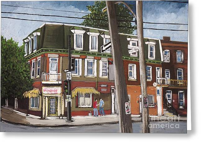 Charlevoix And Mullins Pointe St. Charles Greeting Card by Reb Frost
