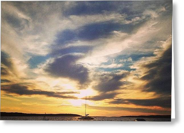 Charlevoix Sunset Greeting Card by Christy Beckwith