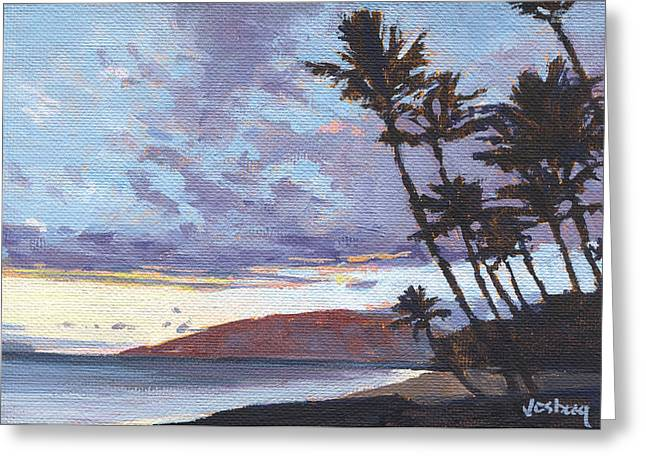 Charley Young Beach Sunset Greeting Card by Stacy Vosberg