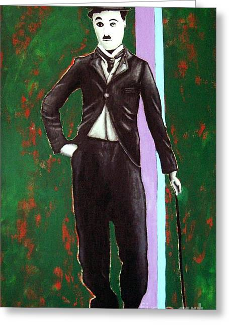 Charlie Chaplin Greeting Card by Venus