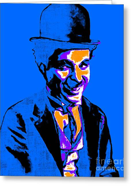 Charlie Chaplin 20130212m145 Greeting Card by Wingsdomain Art and Photography
